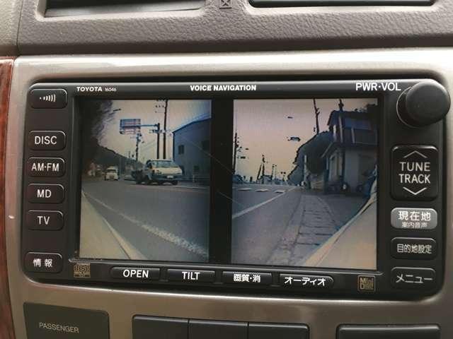路地から出る時に重宝するフロント左右カメラ