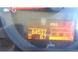 現在走行距離  64.537 KMです!