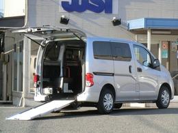 日産 NV200バネットバン 1.6 チェアキャブ 車いす1名仕様 専用サードシート無 スライド式スロープ  オートステップ  ナビ