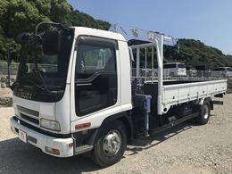 いすゞ フォワード 3t積4段クレーン・ラジコン有・3ペダル 6MT・タダノ製・フックイン