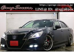 トヨタ クラウンアスリート ハイブリッド 2.5 S ブラックスタイル WORKデュランダル20AW社外車高調ETC