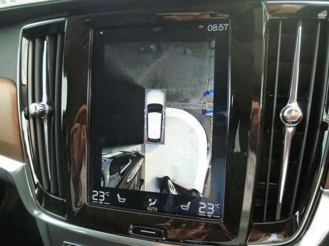 視野360°を可能とする「アラウンドビューカメラ」!