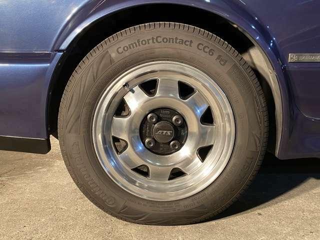 ゴルフIやIIのドレスUP定番ブランドでドイツの老舗「ATS」14インチAWにコンチネンタルコンフォートコンタクト175/70-14を装着◎純正13インチAW+175/70標準サイズタイヤも4本付属!