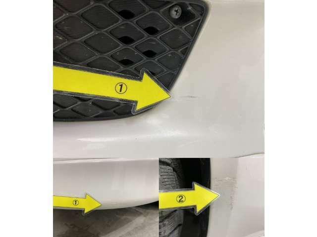 1、Fバンパースリキズタッチアップ2、左サイドステップ キズタッチアップ※掲載写真以外にも、年式や走行距離に応じた微細な傷がある場合がございます。予めご了承ください。