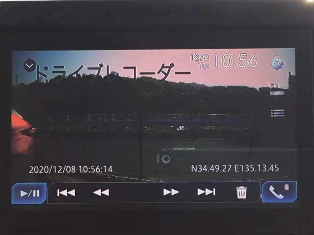 ドライブレコーダーに録画された映像の確認がナビで簡単に出来ます♪