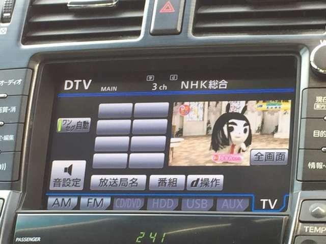 フルセグテレビなので綺麗な映像が見れます。