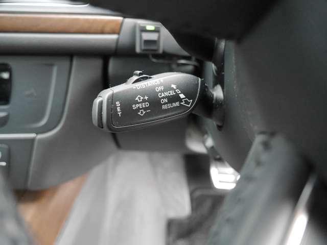 アダプティブクルーズコントロール装備になりますのでクルーズコントロール使用時に車速と車間距離をコントロールしてくれるので高速走行時が快適になります。