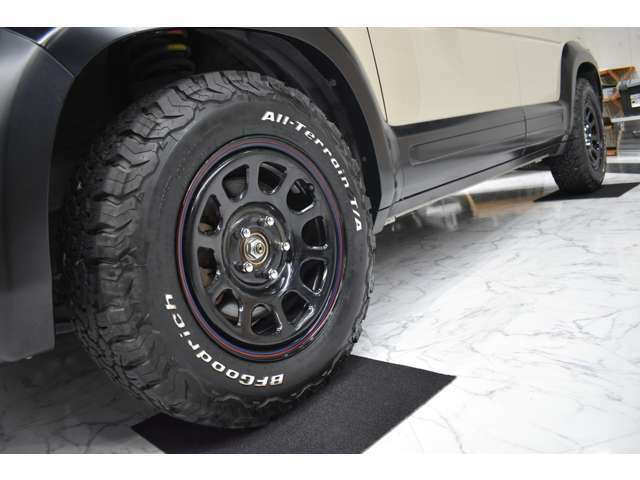新品16インチアルミ&オールテレーンタイヤ!アルミの変更も可能ですのでお気軽にお問い合わせください!