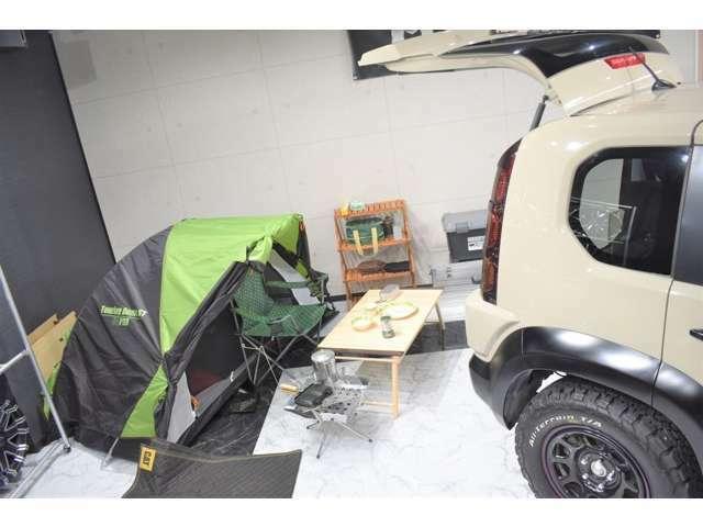 キャンプに最適な御車です!ベージュの御車はキャンプに映えます!