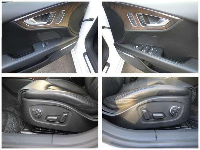 運転席、助手席各3メモリー付きパワーシート&シートヒ-ター付き!電動ランバーサポートも装着され長距離ドライブの疲れも軽減してくれます。
