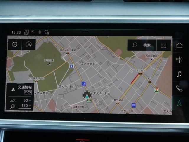 MMIシステムは、ナビゲーション・フルセグTV・DVD再生機能付きオーディオ・ラジオ・ブルートゥース機能などを備えています。