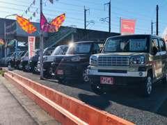 こんにちは!坂田自動車工業です。展示車コーナーが拡大リニューアル致しました!