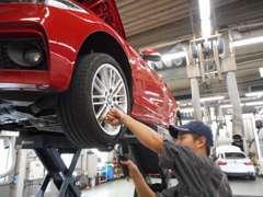 世田谷全域、BMW車をメンテナンス整備できる設備を完備。整備工場も2ヶ所でクイック作業。お客様にご不便をお掛け致しません。