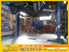 国の認証を受けた自社工場でベテランの国家資格整備士が「展示前の点検」・「納車前の整備」を行っております!