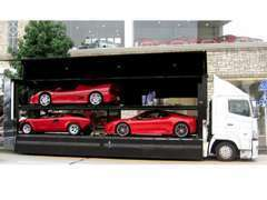 全国納車お任せください! 納車は弊社専用のスーパーカー専用トランスポーター等でお客様のご希望の場所までご納車いたします。