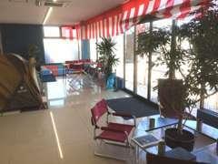店内なのにキャンプ場!?そんな雰囲気で、明るく、おしゃれな店内です♪美味しいコーヒーはいかがですか~^^