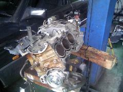 スズキK6Aのエンジン修理時の写真です。