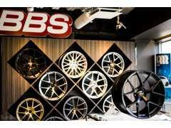 BBSホイールは各種用意。 店内コーナーにも各種展示中です!