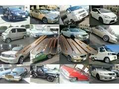 国産車~外車!!普通車~軽自動車まで多種多様に対応致します。ベースからカスタム車両~雰囲気ある車へ