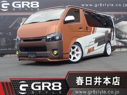 トヨタ ハイエースバン 2.0 スーパーGL ダークプライム ロングボディ GR8デモカー 大阪オートメッセ出展車