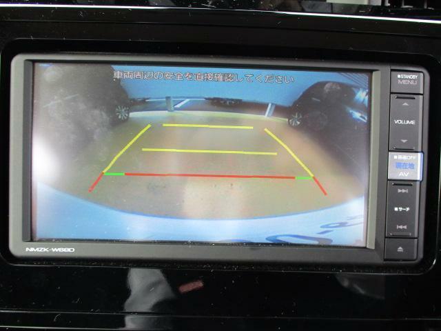 バックカメラが連動しているので、駐車が苦手な方も後方の安全確認ができ安心です♪
