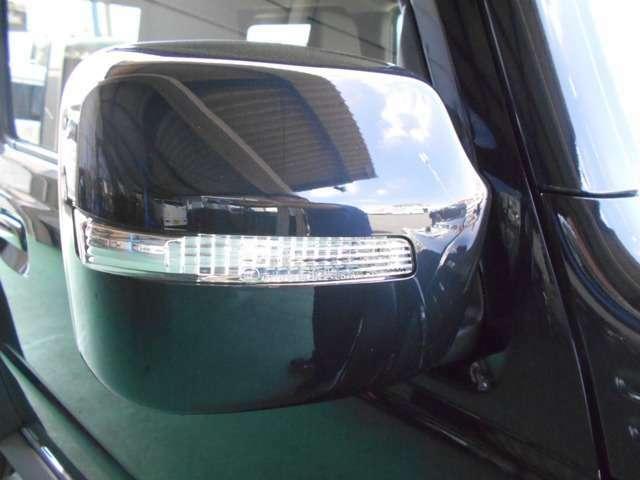 LEDサイドターンランプドアミラー付き。助手席側面方向の死角低減をサポートするサイドアンダーミラーも付いています。