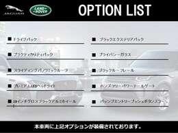 オプションリストをご覧いただけます。
