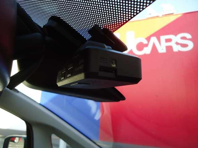 フロントドライブレコーダー搭載・万が一の時の記録に役立ちます。