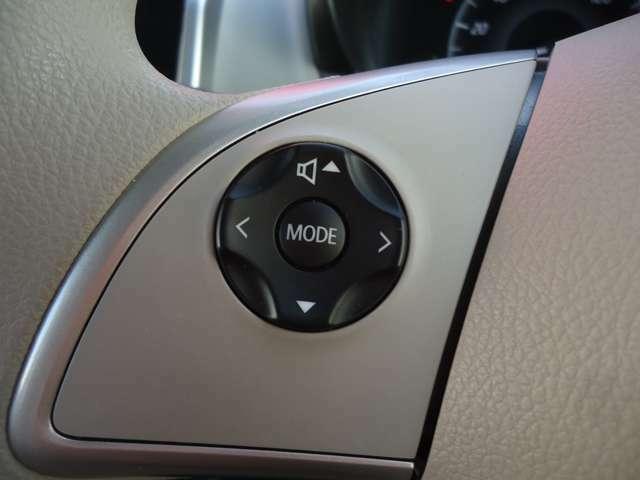 ナビ連動のハンドルボタンで音量やソース切り替えがお手元で簡単に出来ます。
