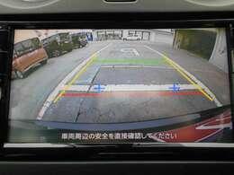 駐車の際に心強いバックモニター!