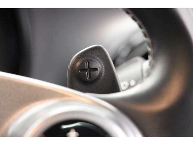 ドライバーの任意のタイミングで、シフトチェンジを行う事ができるパドルシフトを装備。