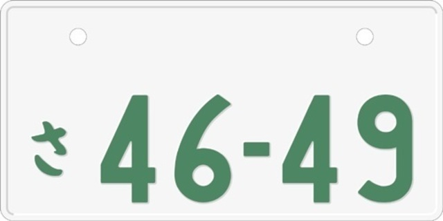 Aプラン画像:◆ペイントタイプ◆ ※字光式ナンバーの場合(+35,000円)