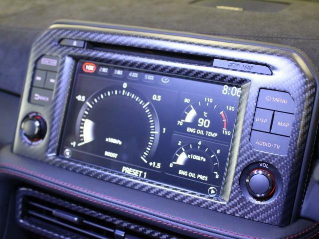 ナビ、オーディオ共に楽しめるところがR35の良さですね!!街乗りも快適に行えます。