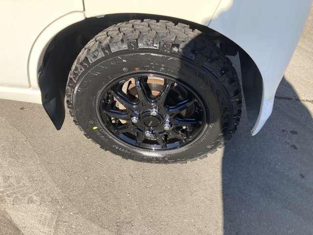 もはや、定番ジオランダ-マット新品タイヤ+12インチアルミ付き!