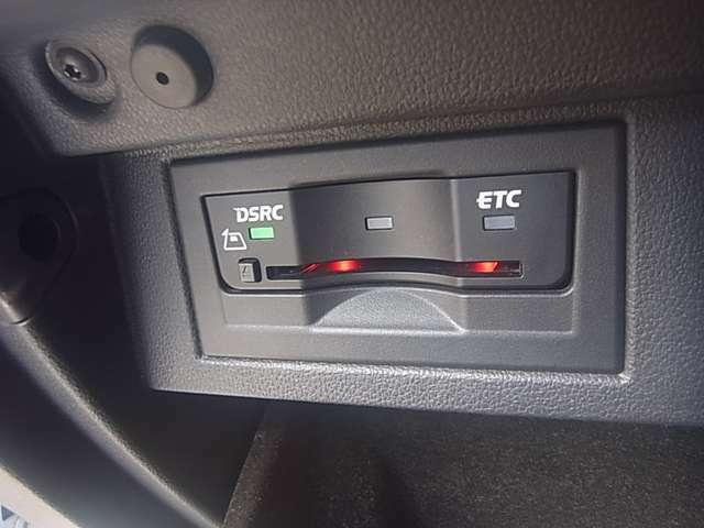 ETC付きです。これで高速道路の料金所もスムーズに通過できます。