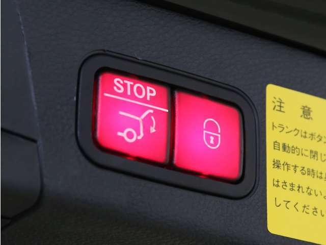 ボタン一つで楽々ゲートの開閉が可能な自動開閉テールゲートを搭載しております!