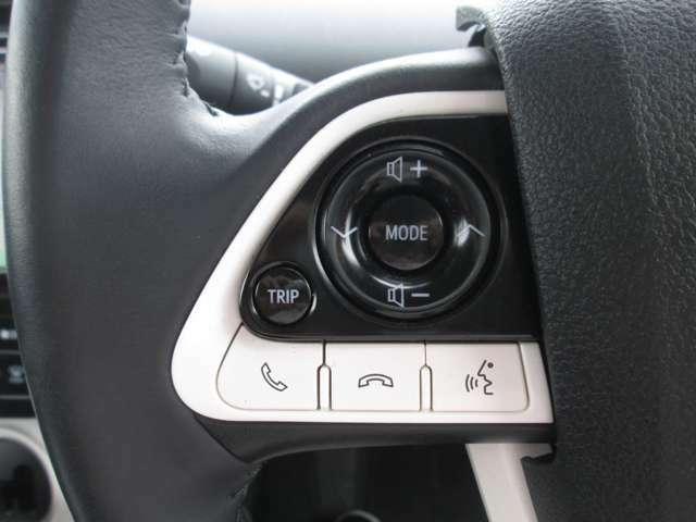 便利なステアリングスイッチが付いて走行中に便利です