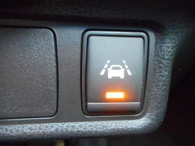 車線逸脱警報スイッチ。