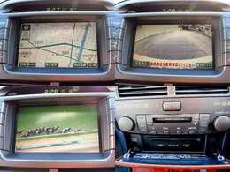 マルチも充実!!ナビ付なのでドライブ中に道に迷う心配もありません!!社外TVチューナーやバックモニター装備!!