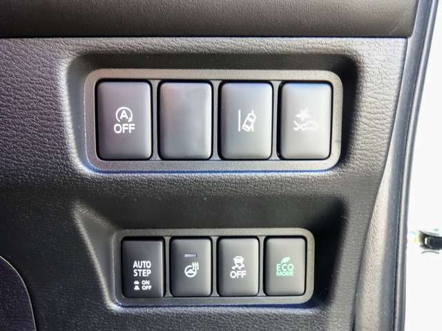 衝突軽減ブレーキ(FCM)車線逸脱警報(LDW)周りの明るさで自動点灯、先行者や車速等で自動的にハイローのヘッドライトを切り替えるAHB装備