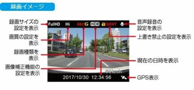 高画質の鮮明な映像を撮影することで、万一のトラブルや予期せぬ事故が起きた時の事故原因解明やスムーズな事故処理等に役立つだけではなく、ドライブの記録映像として後から楽しむこともできます。
