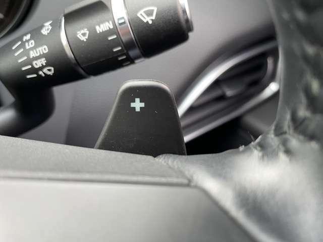 パドルシフトが装備され、エンジンブレーキ時のシフトダウンやスポーツ走行時も使用可能です!