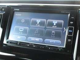 ギャザズメモリーナビ付き。 CD、DVD再生、Bluetooth、フルセグTVがご使用いただけます。