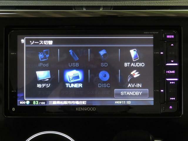 KENWOOD製彩速ナビ(MDV-X701W)が装備されています。