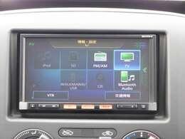 オーディオ一体型ナビです。 ラジオ、CD、フルセグTV、Bluetoothオーディオ、携帯音楽プレーヤー接続が利用可能です。