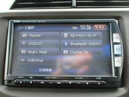 純正メモリーナビ(VXM-122VF)です。DVD/CD再生のほかにもフルセグTV、Bluetooth連携機能も装備されとっても便利です!