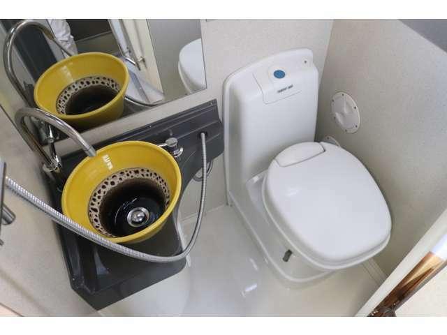 シャワールーム&カセットトイレ!