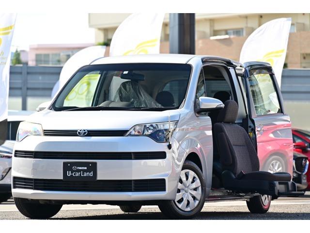 助手席シートが電動で回転し、スライドダウン!車いす収納装置付きのスペイドが入庫しました。ワンオーナーで走行わずか2.1万kmの上質商品です。全長399cmX全幅169cmX全高168cm、ナビ・ETC付!