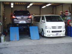 充実した車両整備!整備士が常時在中しています。