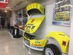 WRC SX4の貴重な本物のパーツも展示中です。